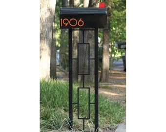 Mid Century Modern Style Mailbox Post