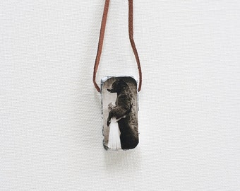 Domino Necklace with fine art print