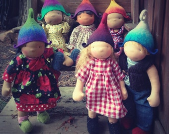 Cute little gnome/elf hats for dolls
