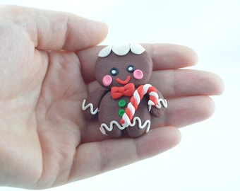 gingerbread man Christmas decoration, Christmas tree decoration, Christmas gift ideas, original gift, Christmas ornaments, handmade clay