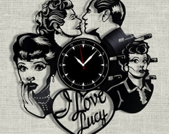 I Love Lucy vinyl record clock, wall clock I Love Lucy, Best Gift for Home Decor