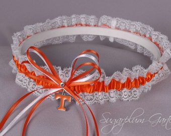 University of Tennessee Volunteers Lace Wedding Garter - Ready to Ship