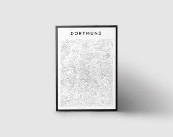 Dortmund Map Print