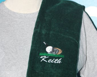 Personalized golf towel - Golf Gift - Fathers Day Present - Embroidered golf towel - Custom Towel - Golf Dad - Gift for Him - Custom Gift