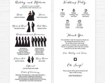 Infographics Wedding Ceremony Program, Wedding Ceremony, Wedding Program, Digital Printable WD_023