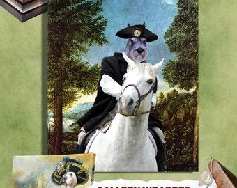 Schnauzer Art CANVAS Print Fine Artwork  Dog Portrait Dog Painting Dog Art Dog Print  Perfect Dog Lover Gift for Her Gift for Him