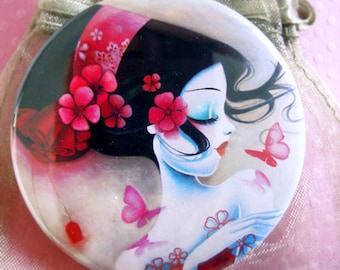"""Pocket mirror """"Rose"""""""