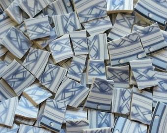 Mosaic Tiles-Blue Lattice-84 Tiles