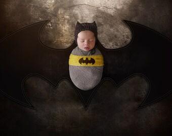 Batman bub - Newborn Digital Backdrop - Poppet
