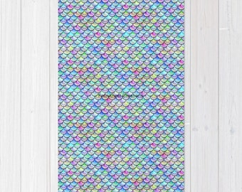 Rainbow Bubble Scales Accent Rug, 3 Sizes Available!