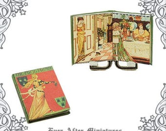 The FROG PRINCE Dollhouse Miniature Book – 12th Scale The Princess and The Frog Prince Children Fairy Tale Miniature Book Printable DOWNLOAD