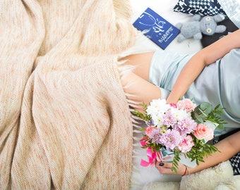 Wool Throw Blanket, Sofa Blanket, Wool Bedding, Throw Blanket, Wool Blanket Queen, Hand Woven Bed Spread, Wool Throw, Wool Plaid Blanket
