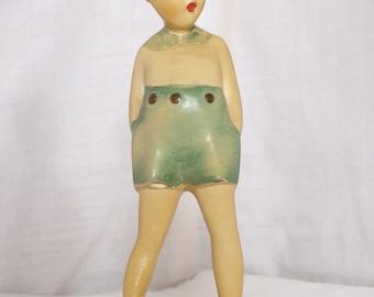 Boy In Blue Shorts Figurine - ca. 40s