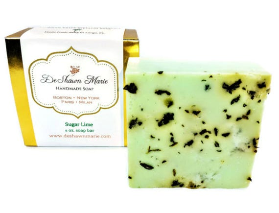 SOAP- Sugar Lime Soap - Vegan Soap - Mojito Soap - Handmade Soap- Soap Gift - Birthday Gift - Christmas Gift