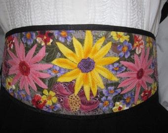 One of a Kind Original Art One Of A Kind (OOAK) Floral Cummerbund Cumberbun Cumberbund