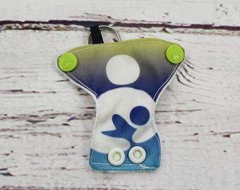 cloth diaper keychain - keychains for women - baby shower favors -breast feeding - baby shower gift - baby shower diaper cake - zipper pull