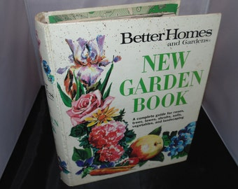 Vintage 1971 Better Homes and Gardens New Garden Book Hardcover Book 4th print gardening