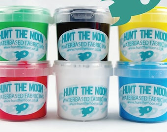 Hunt The Moon - Screen Printing Waterbased Ink 6 Pack