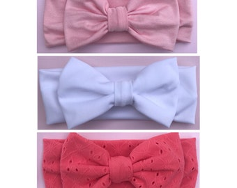 Coral, Pink, or White Headband