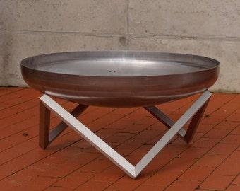 Stainless Steel Fire Pit YANARTAS (79cm diameter)