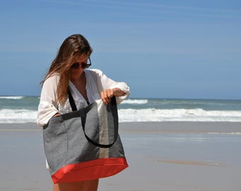 Made in france Water-Resistant Tote - Shoulder bag, Diaper bag, Messenger bag, Tote, Travel bag, Gym bag, Women.