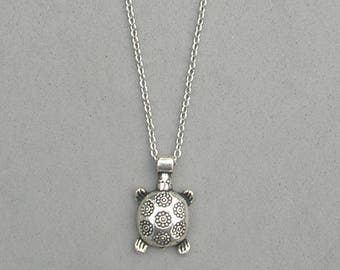 Tibetan Silver Turtle Necklace