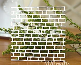 "Background Chipboard ""Bricks"" for mixmedia scrapbooking"