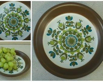Figgio Flint  Serving Plate.Figgio Flint ceramic platter, Norwegian Ceramic MCM c1960s,  Norway Figgio Flint ceramic serving dish.
