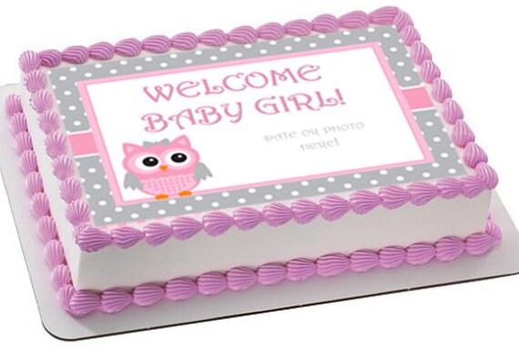 Baby Shower Edible Cake Topper Baby Shower Cake Image Owl