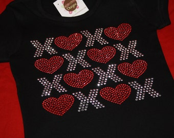 XOXO rhinestud tee by Daisy Creek Designs