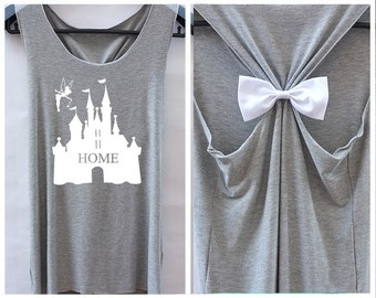Home Tinkerbell Disney Princess . disney shirt.adorable tank top.Bachelorette party tank.Racer back tank top.cute tank top.bow tank top