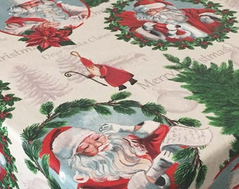 Christmas Tablecloth, Holiday Tablecloth, Round Christmas Tablecloth, Christmas Coated Tablecloth