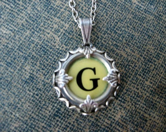 Typewriter Key Jewelry - Typewriter Charm - Letter G