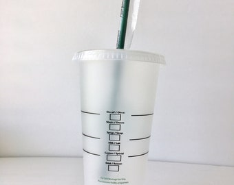Hand Drawn Starbucks CLEAR Reusable Cups; Your choice of character (s)