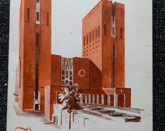 Vintage Booklet: The Oslo City Hall Edited by Carl Just 1953