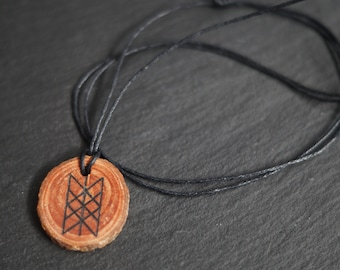 Wooden Web of Wyrd Pendant