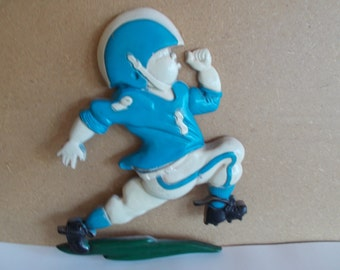 Vintage Homco Metal Football Player