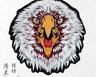 Eagle embroidered patch applique vintage bird patch Clothing Sew on decoration patch applique