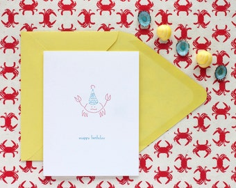 Snappy Birthday - letterpress birthday card
