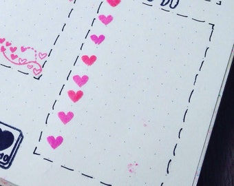 Plantastic Boxes - Stamps that for perfectly in your planner boxes! (Heart Bullet Points)