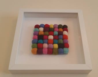 3D Felted Picture. Made by Feltingstudio in Edinburgh, SCOTLAND