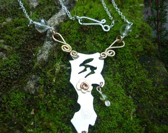 Hare Jewellery Necklace, Silver , SquareHare, UK, Free Postage, Vegan, pagan wildlife