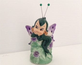 Vintage Butterfly Pixie by Lefton