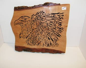 Eagle Indian chief plaque.