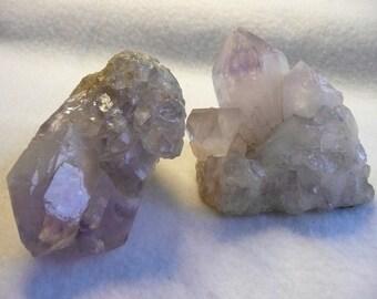 2 Amethyst Quartz Crystal Points