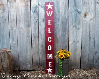 Porch Decor, Rustic Welcome Signs, Farm House Decor, Handpainted, Primitive, Rustic, Country Porch Decor, Welcome Signs
