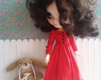 Vestido rojo para BLYTHE/Pullip y Pure Neemo