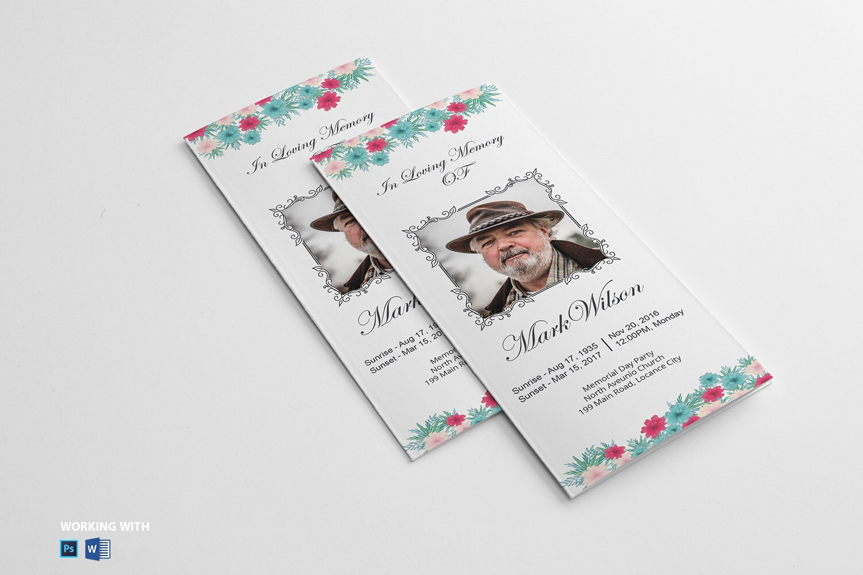 Printable Trifold Funeral Program Template Funeral Program