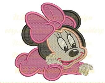 Baby Maus Stickerei gefüllt Stich, Minnie Maschine Stickerei-Design, ms-091-Füllung