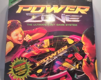 Tyco Boardgame Power Zone The Ultimate 5 in 1 Game System Great Condition Complete FREE SHIPPING